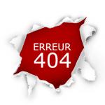 Pourquoi une erreur 404