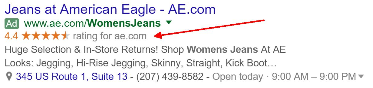 Avis notation Adwords